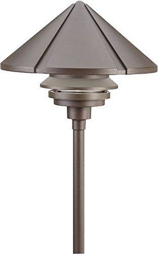 Kichler 15211azt Six Groove Cast Aluminum Post Landscape Path Lighting Fluorescent Bronze Pathway Lighting Path Lights Outdoor Post Lights