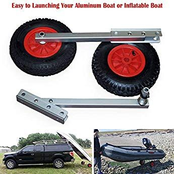 Bolts Stainless Steel NEW Large Boat Folding Launching Wheels Rib Inflatable