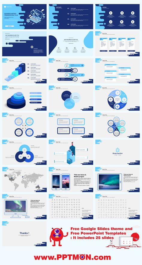 Powerpoint PPT Design Template and Google Slides theme