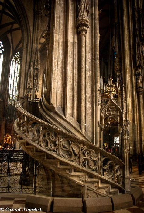 Stephen's Cathedral in Vienna,Austria. Gothic Architecture, Ancient Architecture, Beautiful Architecture, Beautiful Buildings, Beautiful Places, Modern Buildings, Casa Steampunk, Wachau Valley, Cathedral Church