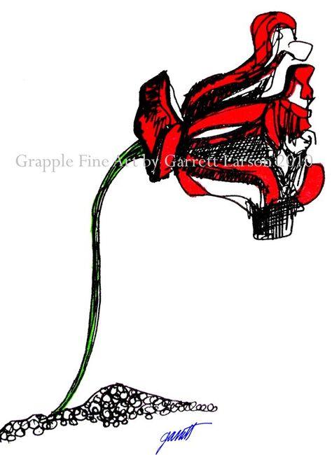 Uncharted Flower by Garrett Larson Original Fine by GrappleFineArt, $29.50