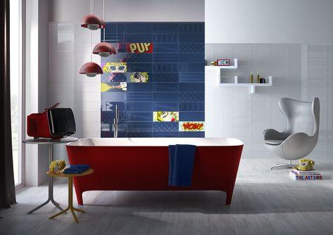 8 best POP ART FEATURE TILES images on Pinterest | Feature tiles ...