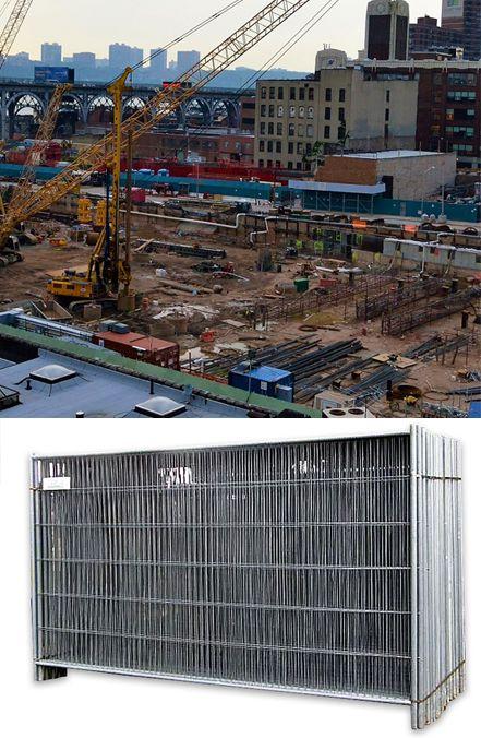 Panel Ogrodzenia Tymczasowego 3500x2000 Budowlane Skyscraper Building Multi Story Building