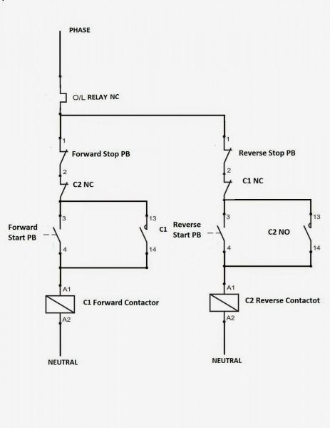 Reversing Motor Starter Wiring Diagram from i.pinimg.com