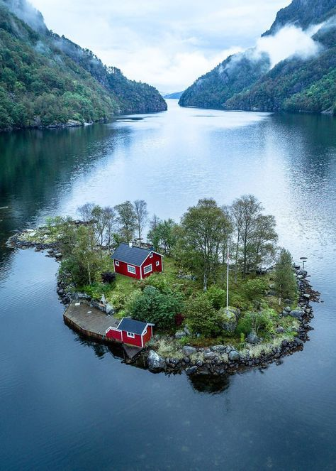 Small house in an island