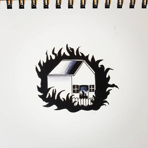 Halloween 2020 Burning House Burn baby Burn #gore #fire #house #hauntedhouse #halloween #art