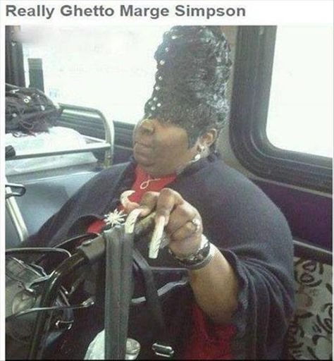 funny pictures of the day pics) Ghetto Marge Simpson