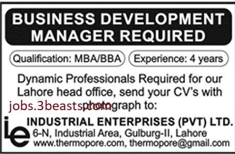 Jobs Available In Business Development Manager Required In Lahore