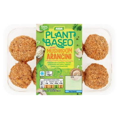 Asda Plant Based Mushroom Arancini Asda Groceries In 2020