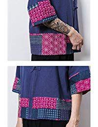Uomo Cappotto Kimono Giapponese Mens Vintage Cloak Cotton Linen Blends Loose Fit Short Coat Jacket Cardigan