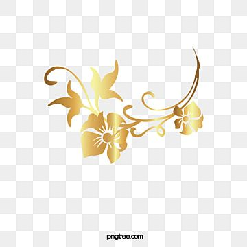Luxury Golden Flower Flower Clipart Luxurious Leaf Png And Vector With Transparent Background For Free Download Watercolor Flower Wreath Flower Clipart Flower Art