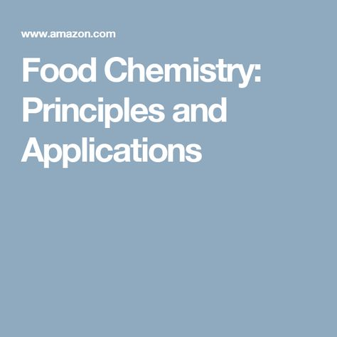 application of chemistry in food