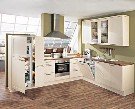 Moderne #Landhausküche in hellen Farben von #Nobilia erhältlich ... | {Moderne landhausküche u-form 28}