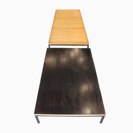 Niedrige Tische von Claude Gaillard, 1960er, 2er Set Jetzt - beistelltisch für küche