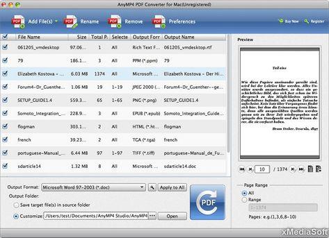 برنامج تحويل البي دي اف الى صيغ اخرى AnyMP4 PDF Converter