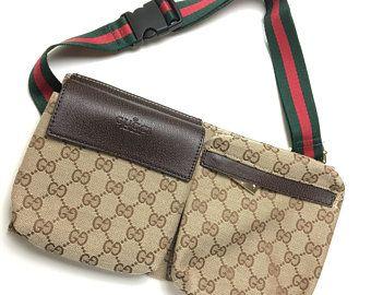 1c7faa47 Gucci Bootleg Fanny Pack Messenger Waist Bag Unisex Purse belt ...