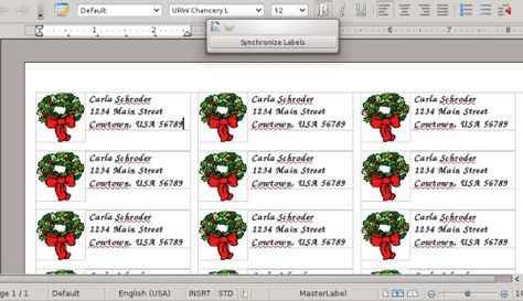 Making address labels with LibreOffice Other Pinterest - address label format