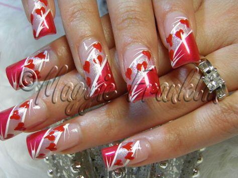 Valentines Day Nail Art by Onykophile – Nail Art Gallery nailartgallery.na by Nails Magazine nailsmag