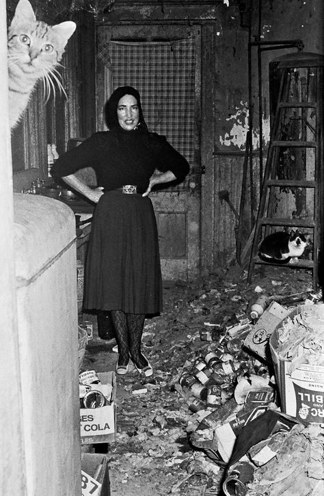 Little Edie Beale in Grey Gardens, the home she shared with her mother, in 1972.