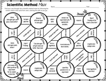 The Scientific Method Science Maze By The Morehouse Magic Tpt Scientific Method Scientific Method Worksheet How To Apply