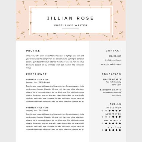 Download Professional Resume Template @creativework247 Resume - download free resume sample