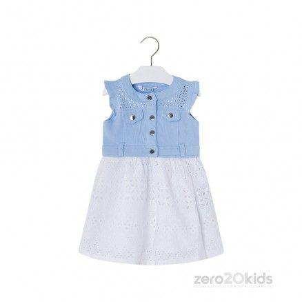 0bf3b77de3 MAYORAL - WHITE & PINK 2 PC DRESS (1M-12M)   Zero 20 Kids   kezimunka    Pinterest   Girl outfits, Boys és Children