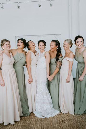 Mix And Match Bridesmaids Dresses Sage Green And Blush Bridesmaid Dresses Tara Raft Sage Bridesmaid Dresses Mixed Bridesmaid Dresses Blush Bridesmaid Dresses
