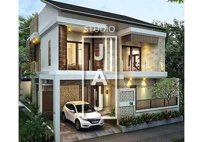 Desain Rumah 2 5 Lantai Luas Bangunan 240m2 Style Bali Modern Bp