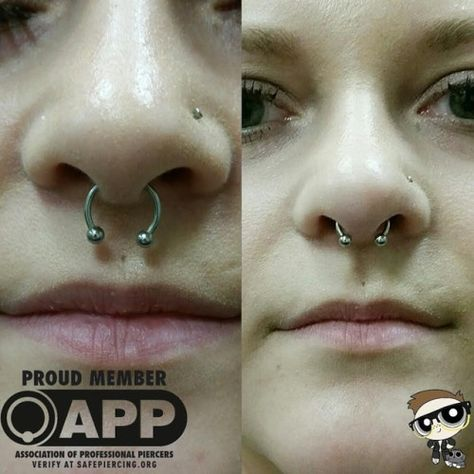 Today I Had A Client Come In Who Unfortunately Had Her Septum