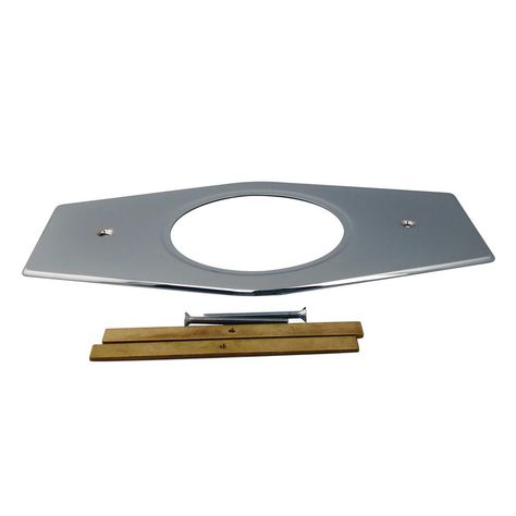 Westbrass 13 In Stainless Steel Shower 1 Hole Cover In Polished Chrome D502 26 Polished Chrome Shower Valve Chrome