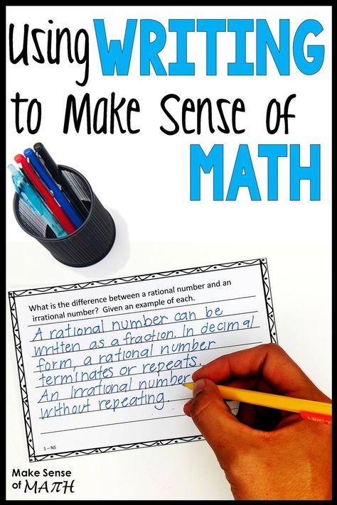 Using Writing to Make Sense of Math