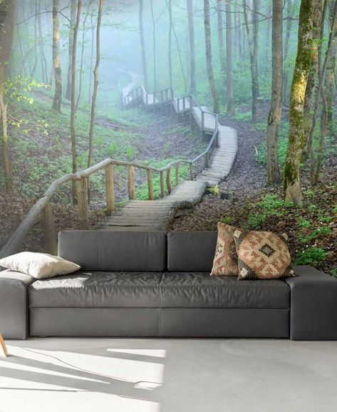 Create the look of a room that reaches out into the distance with this beautiful forest landscape wallpaper. It will bring the benefits of the outdoors into your home and refresh your decor. Price is per square foot. Visit wallsauce.com for more information.