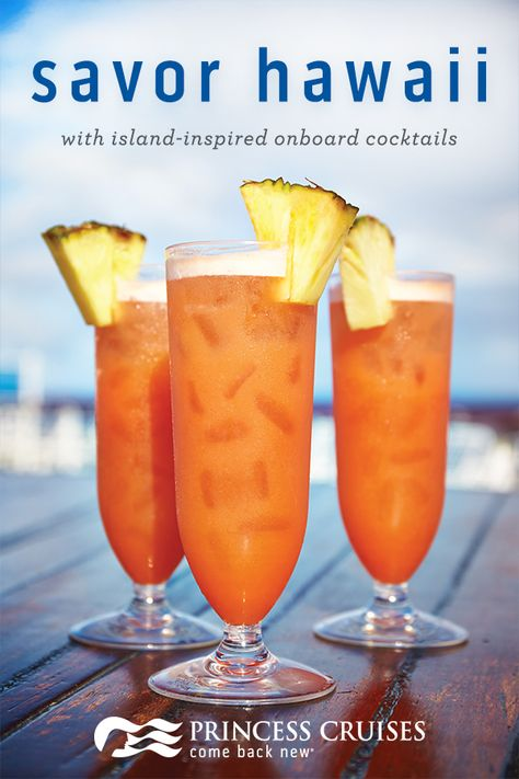 Tropical cocktails taste better on a Hawaii cruise.