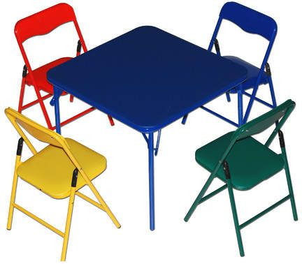 Zoomie Kids Jovany Children S 5 Piece Square Table And Chair Set Folding Chair Childrens Folding Table Kids Table And Chairs Childrens folding table and chair sets