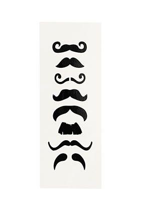 Moustache Finger Tattoos