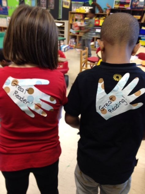 """""""Pat on the Back"""" from contact paper. How fun for the classroom to encourage each other!"""