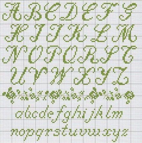 Cursive Alphabet Alfabeto In Corsivo A Punto Croce Sampler