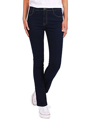 ed18d443 Fraternel Pantalones Vaqueros mujer recto straight Azul oscuro XS ...