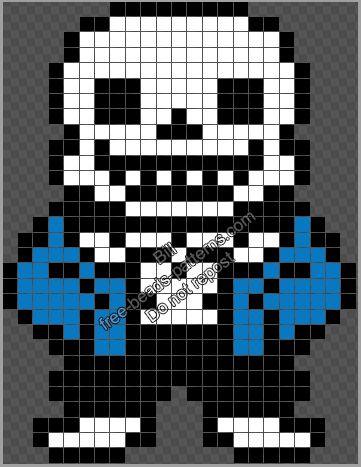 Sans Undertale videogame character free Perler Hama Beads