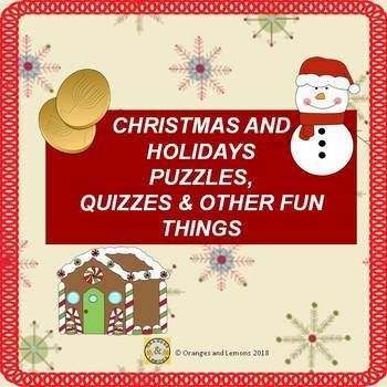 Christmas And Holidays Puzzles Quizzes And Other Fun Things Holiday Puzzle Holiday Season Christmas Holiday