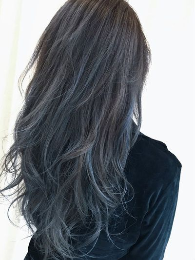 ネイビーアッシュ で春夏秋冬問わない透け感カラーをget Hair