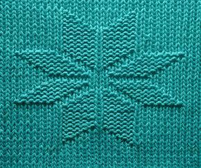 1000 Strickmuster 016 Stern Strickmuster Muster Stricken Flechtmuster Stricken