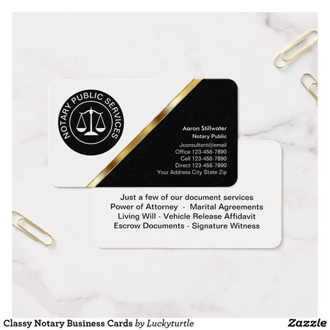 Classy Notary Business Cards Zazzle Com Business Cards Online Google Business Card Notary