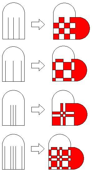 scandinavian idea - Paper weaving hearts - I remember doing these - christmas paper template