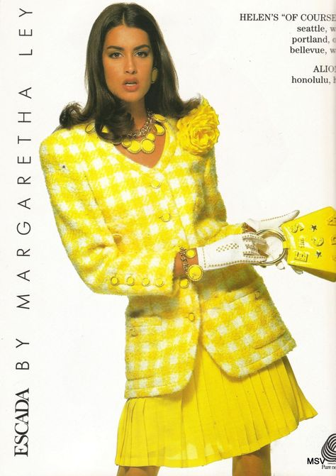 Yasmeen Ghauri - Published in USA Vogue, March 1991 Escada by Margaretha Ley, Spring & Summer