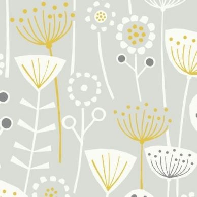 Fryetts Bergen Scandi Grey printed cotton fabric