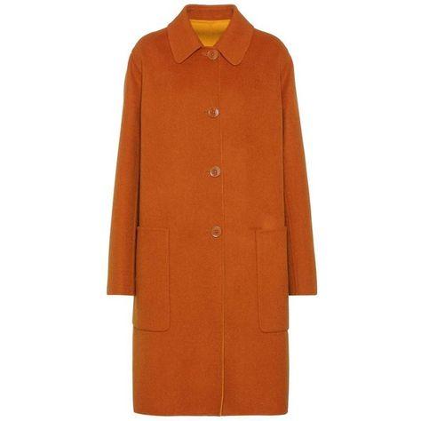 Zara double face wool coat women mango color size S   Coats