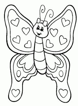 Kelebek Boyama Sayfasi Butterfly Coloring Pages Free Printable