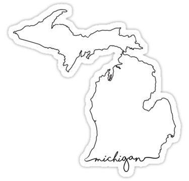 'Michigan' Sticker by Shall Hatch