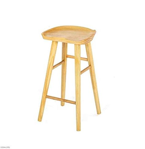Plout Solid Wood High Stool Retro Bar Stool Family Breakfast